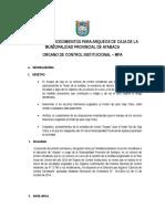 Para Arqueos de Caja de La Municipalidad Provincial de Ayabaca
