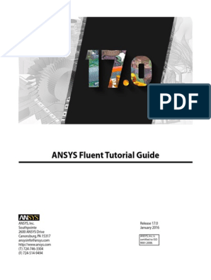 ANSYS Fluent Tutorial Guide r170 | Trademark | License