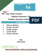 Presupuesto Financiero Resumen Capitulo 1 7b