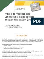Projeto de Produção Para Construção Metálica Aplicado Em Lajes Mistas Steel Deck