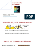A New Paradigm for Student Learners Madison Conference