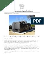 Soluciones de Tratemiento Para Aguas Residuales