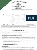 pa certificate- christine oneill