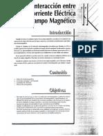 9. Interaccion Entre La Corriente Electrica y El Campo Magnetico