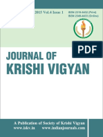 Journal  of Krishi Vigyan vol 4 issue 1