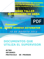 Documentos de Obra (Ing. Javier Moreno)