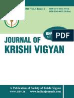 Journal of Krishi Vigyan vol 4 issue 2