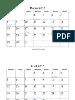2015 calendario