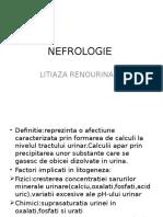 NEFROLOGIE LITIAZA URINARA