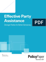 Effective Party Assistance Stronger Parties for Better Democracy PDF