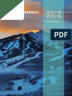 Aspen Snowmass Vacation Planner    English