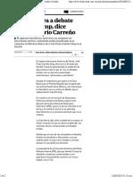 22-06-16 México No Va a Debate Contra Trump, Dice Subsecretario Carreño