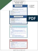 Smart Summary Income Taxes CFA