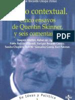 Bocardo Crespo Enrique - El Giro Contextual - Cinco Ensayos De Quentin Skinner Y Seis Comentarios.pdf