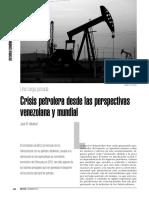 Crisis Petrolera Desde Las Perspectivas Venezolana y Mundial