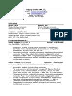 gshaffer sc resume
