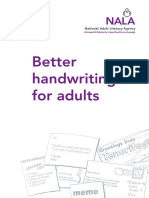 Handwriting for Adults
