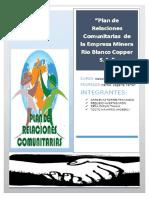 Plan de Relaciones de Comunitarias RIO BLANCO