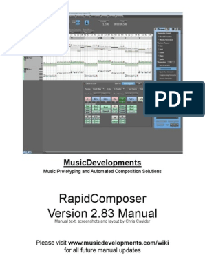 RapidComposer Version 2 83 Manual | Musical Compositions | Chord (Music)