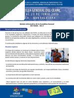 Boletín informativo de la Asamblea General del CEAAL - Día 3