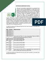 Historia de Microsof Excel