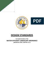 Landscape Irrigation DESIGN STANDARDS