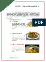 PLATOS TÍPICOS y Costumbres Del Peru