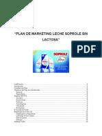 Plan de Marketing Soprole