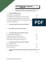 Checklist in Cen Die