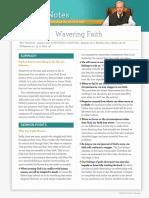 Wavering Faith text