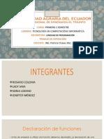 Exposicion Funciones Lp II