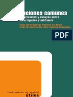 Nociones Comunes in Estigacion y Ensayos Entre Investigacion y Militancia