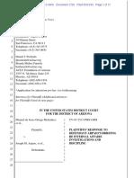 Melendres 1720 P Response Re IA Procedures