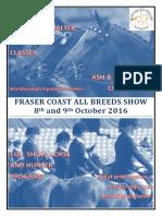 2016 MARC Fraser Coast All Breeds Program