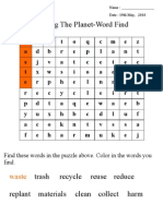 Sharing the Planet-Word Find