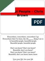 Beautiful People - Brf