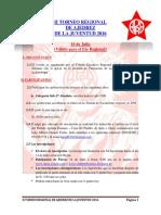 II Torneo Regional de Ajedrez de La Juventud APRA 2016