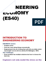 Engineering Economy - Lecture 1