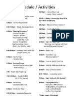 Relay Schedule and Team Site Info 2016