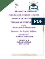 tuberculosis gestacional