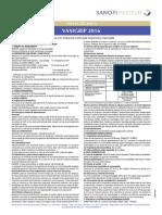 Ficha Técnica Vaxigrip 2016