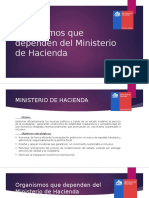 Organismos Que Dependen Del Ministerio de Hacienda