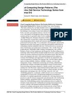 Computing Patterns Prentice Service Technology