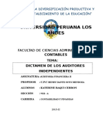 Dictamen de Los Auditores Independientes