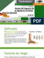 Diagnóstico y Manejo del Esguince de tobillo en la fase aguda en el primer nivel de atención