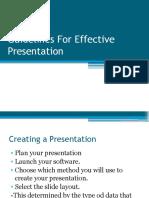 Guidelines for Effective Presentation