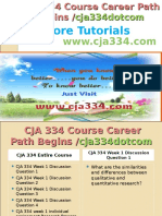 CJA 334 Course Career Path Begins Cja334dotcom