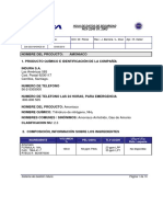 HDS Amoniaco Almacenamiento