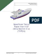 06. Spesifikasi Teknis Kapal Ikan 5 GT Tipe U - (TIPE 6) Tahap II