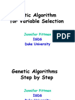 Genetic Algorithm  for Variable Selection by Jennifer